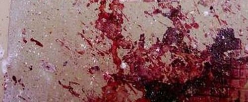 blood on floor