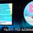Interactive Marketing with Text-To-Screen